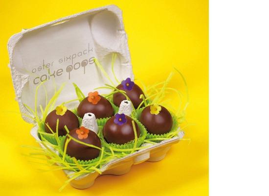 Runde Eier im Sixpack-Karton