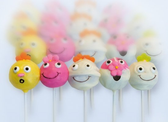 Funny Guys Cake Pops mit Nutella Frosting