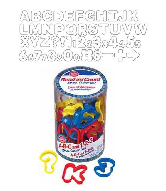 Ausstecher Set A-B-C and 1-2-3, 50 Stück