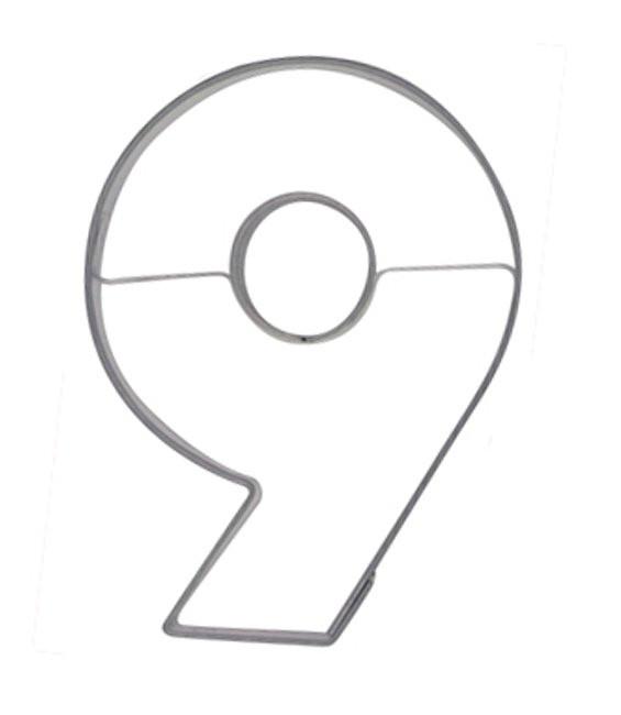 Ausstecher Nummer 9, 6,5cm