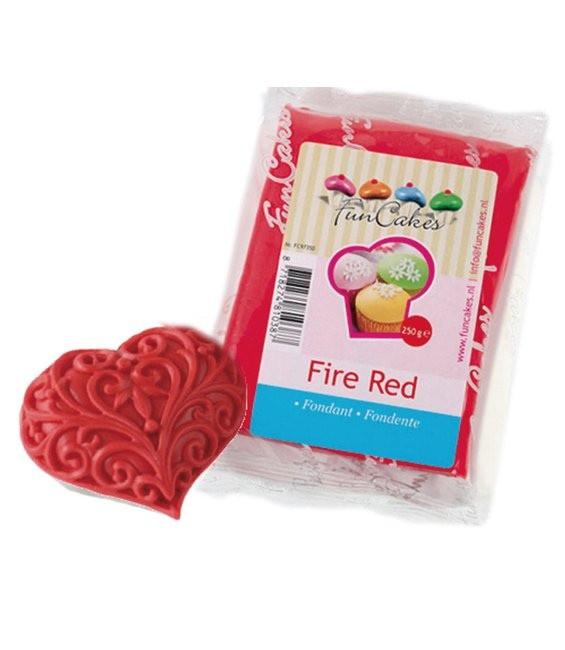 Fondant, 250g Fire Red