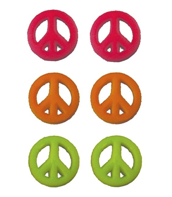 Peace Zeichen Farbe 1, 8 Stück