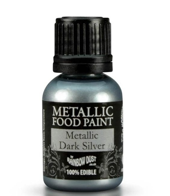 RD Metallic Food Paint Metallic Dark Silver