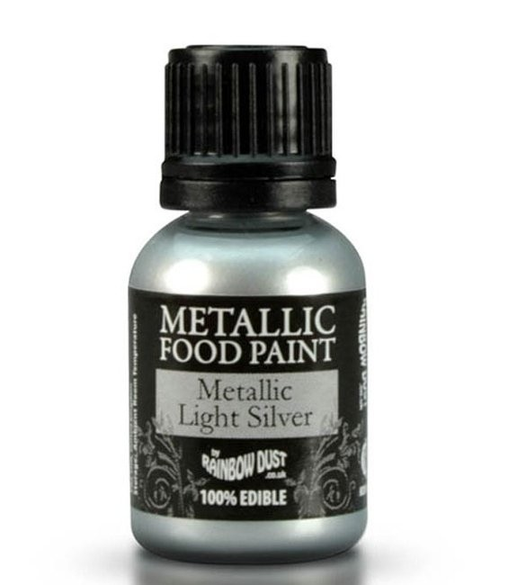 RD Metallic Food Paint Metallic Light Silver