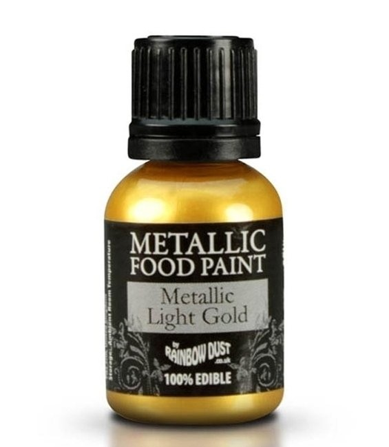 RD Metallic Food Paint Metallic Light Gold