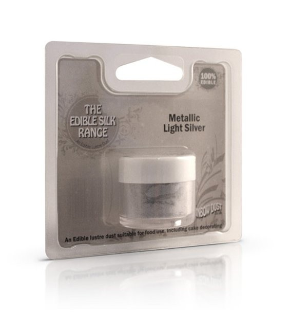 Edible Silk Metallic Light Silver