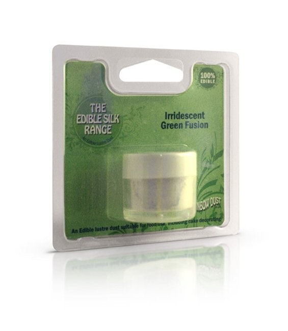 Edible Silk Irridescent Green Fusion