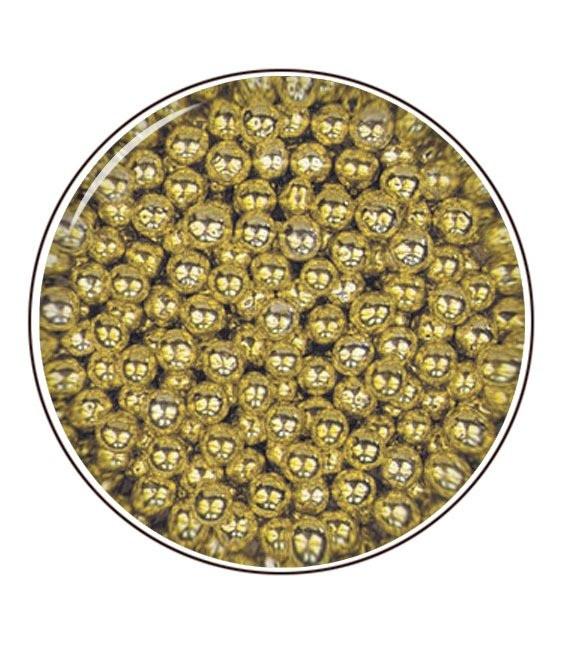 Metallic- Zuckerperlen 4mm 80g, Gold
