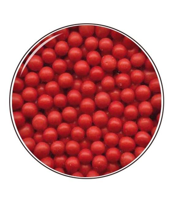 Zuckerperlen 4mm 80g, Rot