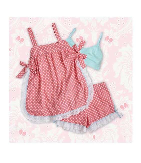 Baby Doll Pink & White Polka Dots Größe Large