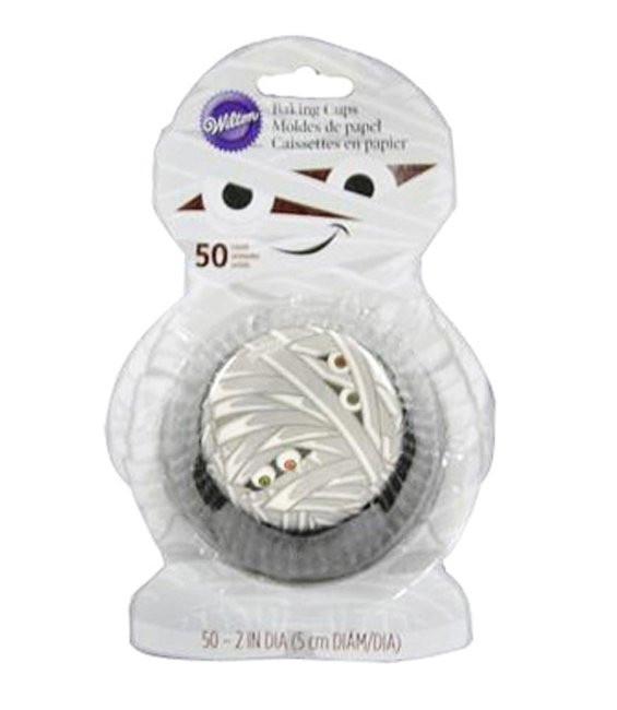 Muffinförmchen als Mumie, 50 Stück