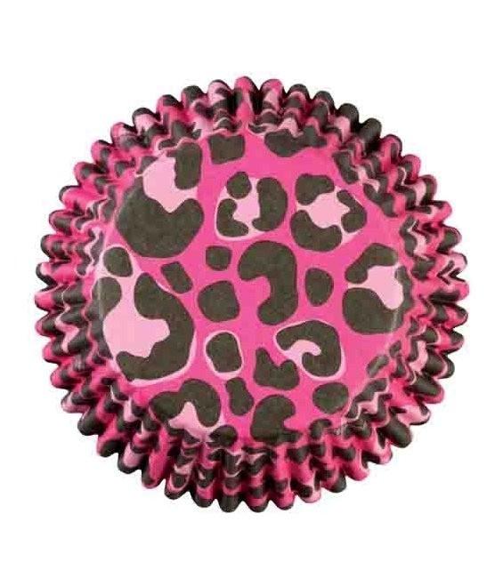 Muffinförmchen Pink Leopard, 36 Stück