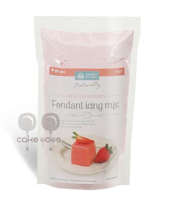 Frucht Fondant Icing Mix, 250g Erdbeere
