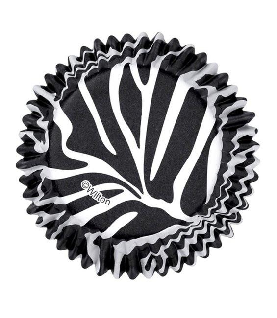Muffinförmchen Zebra, 36 Stück
