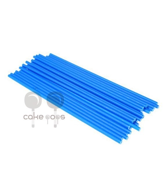 Kunststoff Lollipop Sticks Blau 19 cm, 25 Stück
