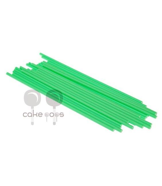 Kunststoff Lollipop Sticks Grün 19 cm, 25 Stück