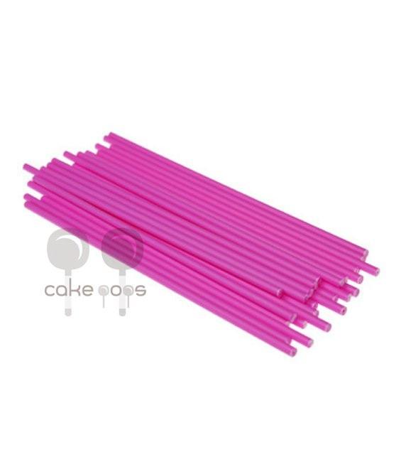 Kunststoff Lollipop Sticks Pink 19 cm, 25 Stück