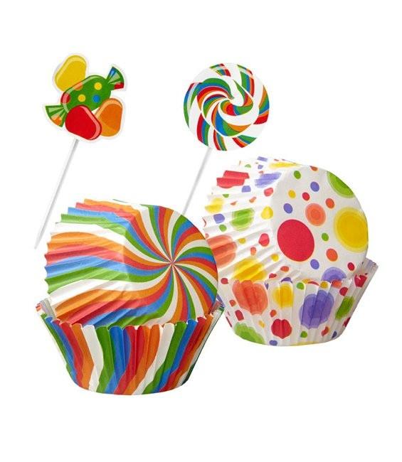 Muffinförmchen Candy mit Picker 74 Stück