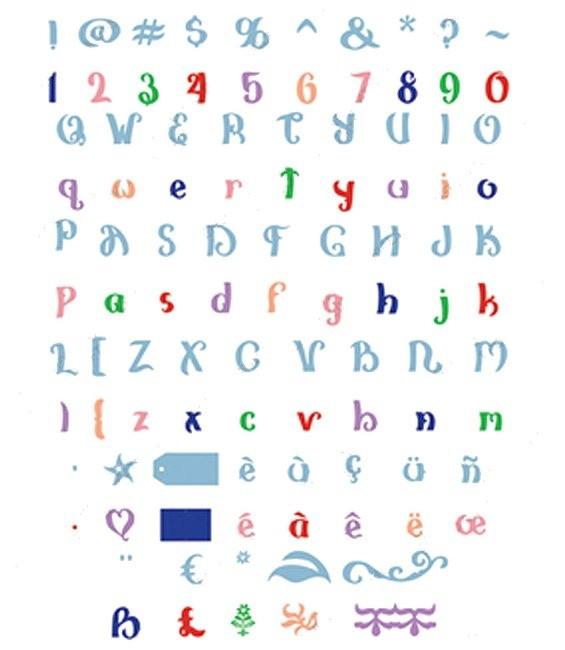 Cartridge für Cricut Cake Alphabet