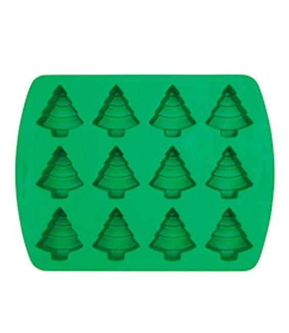 Silikonbackform Tannenbäumchen, 12 Stück