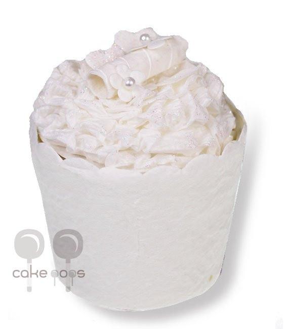 Papiergeschenkbox als Cupcakes weiß, verschiedene Modelle