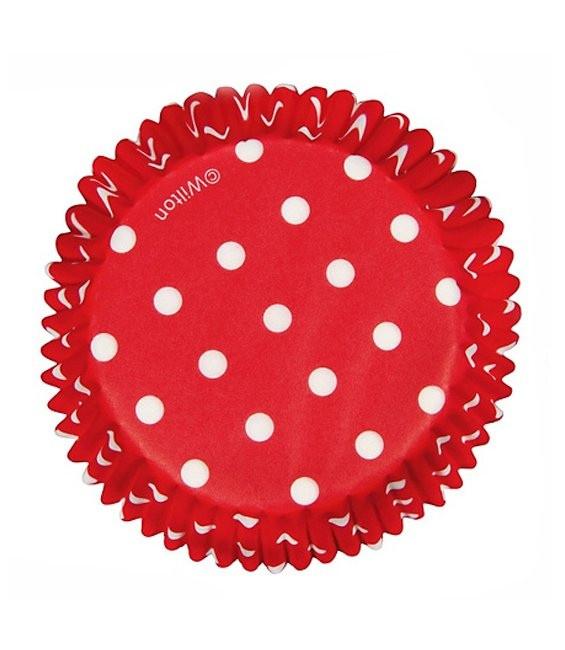 Muffinförmchen Rot gepunktet, 75 Stück