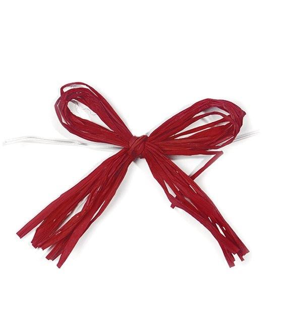 Bastschleifen Rot - 12 Stück