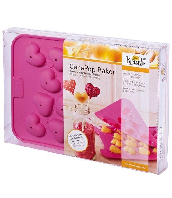Silikonbackform Cake Pops Baker Herzen