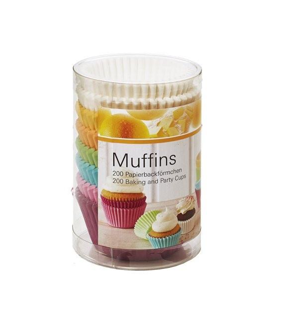 Muffinförmchen Set Multi Weiss & Pastell, 200 Stück