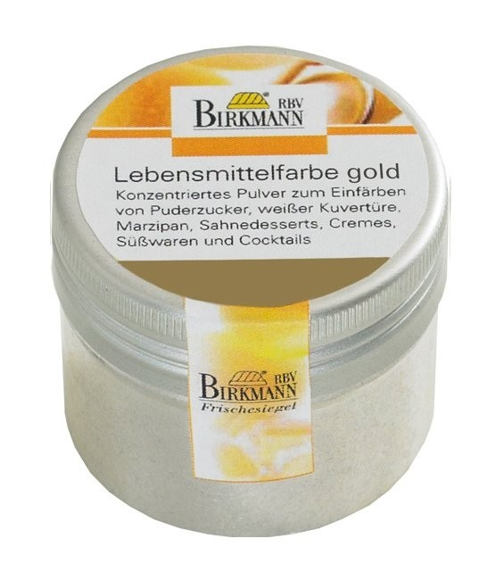 Lebensmittelfarbe Pulver Gold