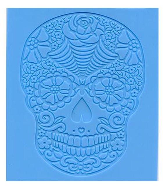 SugarVeil Flower Skull Mat