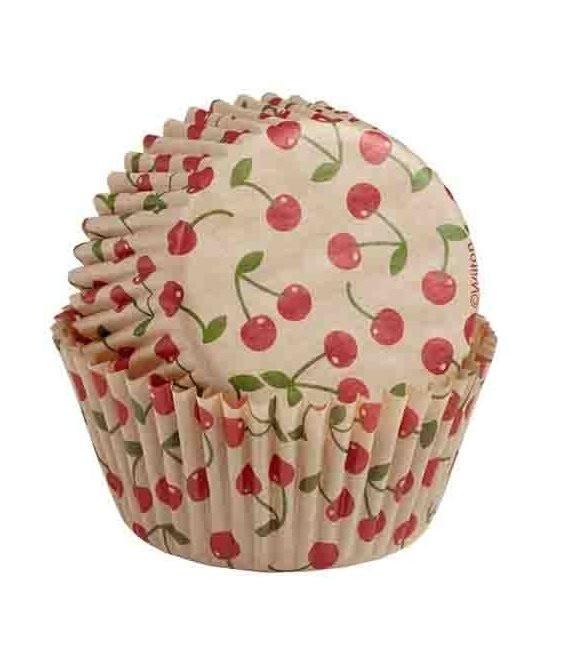 Muffinförmchen Ungebleicht Kirsche, 75 Stück