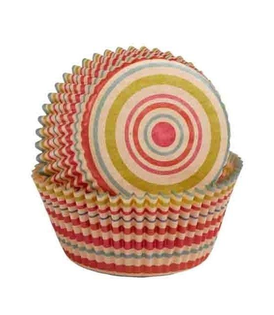 Muffinförmchen Ungebleicht Streifen, 75 Stück