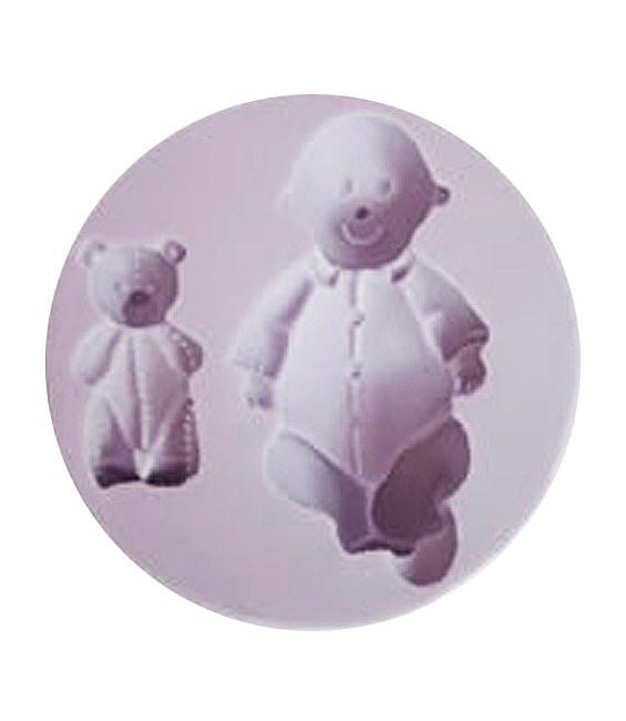 Fondant Silikonform Baby & Teddy