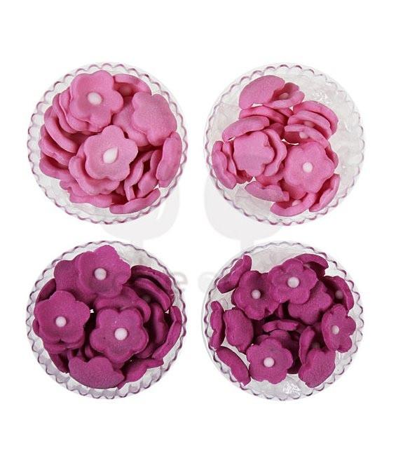 Mini Blümchen Rosa & Pink Mix, 100 Stück