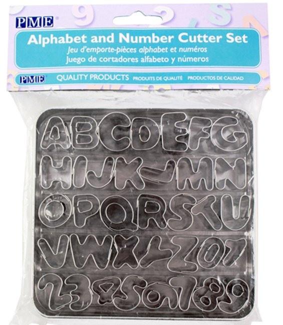 Ausstecher Set kleine Alphabet & Nummern, 36 Stück