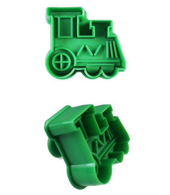 Ausstecher mit Prägung Lokomotive
