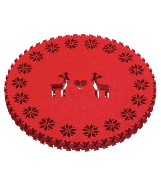 Merry Little Christmas Tischsets, 4 Stück
