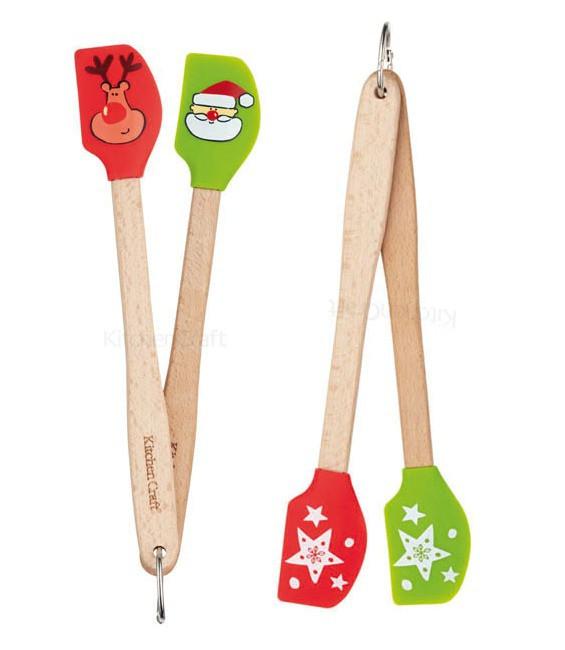 Teigschaber Weihnachten klein, 2 Stück