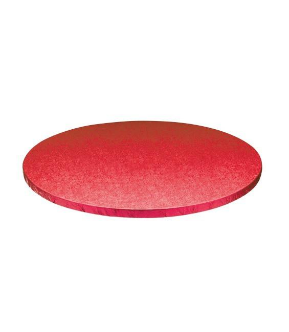 Stabile Runde Tortenunterlage Rot, 25cm
