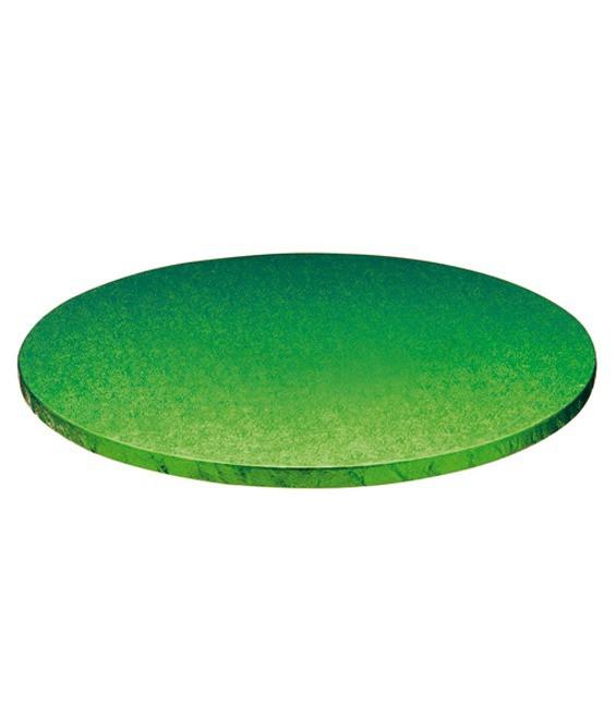 Stabile Runde Tortenunterlage Grün, 35cm