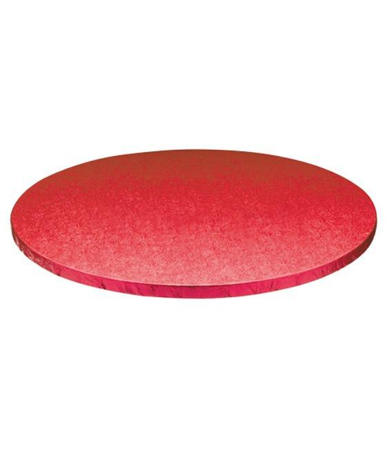 Stabile Runde Tortenunterlage Rot, 35cm