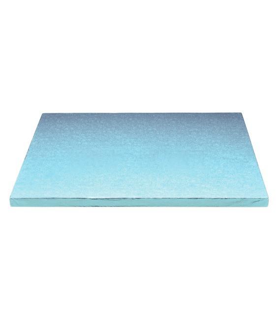 Stabile Quadratische Tortenunterlage Himmelblau, 30cm
