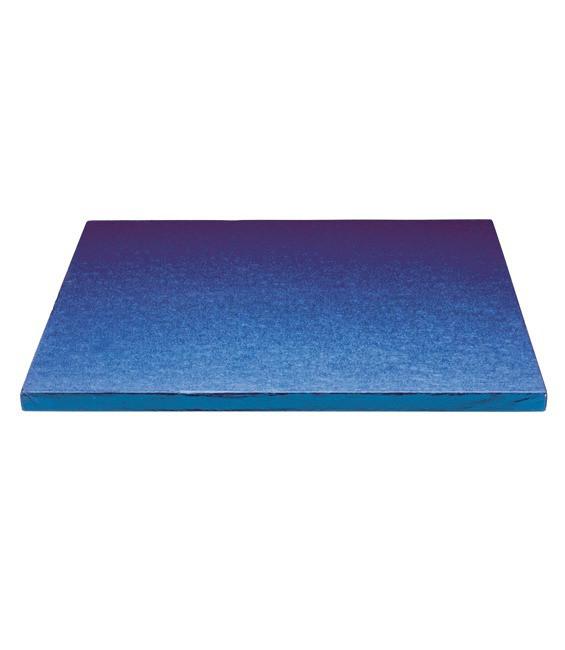 Stabile Quadratische Tortenunterlage Blau, 30cm