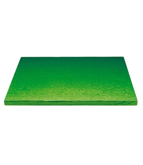 Stabile Quadratische Tortenunterlage Grün, 30cm