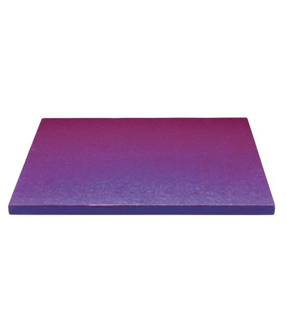Stabile Quadratische Tortenunterlage Lila, 30cm