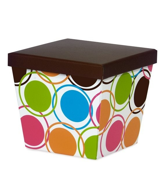 Präsentations Box Chocolate Designer Dots