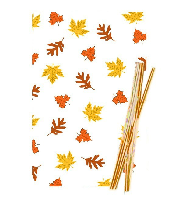 Poly- Klarsichttüten Herbst, 25 Stück