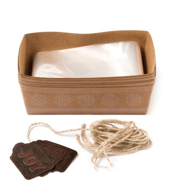Mini Backformen & Verpackung im Set, 6 Stück