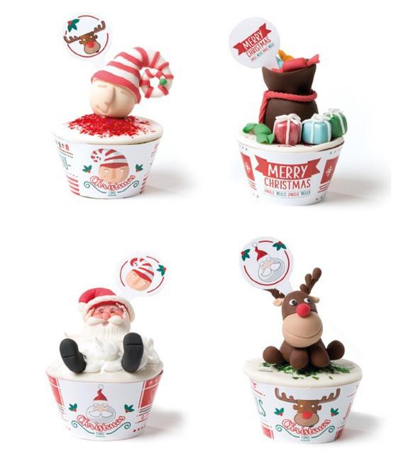 Muffinmanschette Christmas Time, 12 Stück